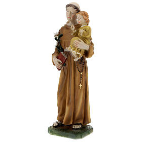 St Anthony statue with Child yellow dress, 30 cm resin s3