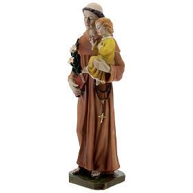 Statue Saint Antoine livre en main résine 20 cm s3