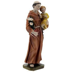 Statue Saint Antoine livre en main résine 20 cm s4
