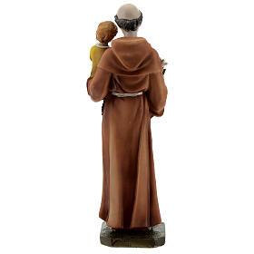 Statue Saint Antoine livre en main résine 20 cm s5
