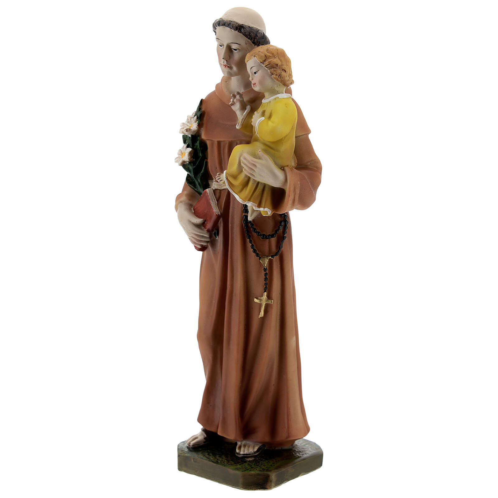 St Anthony statue with book, 20 cm resin 4