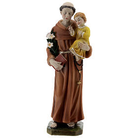 St Anthony statue with book, 20 cm resin s1
