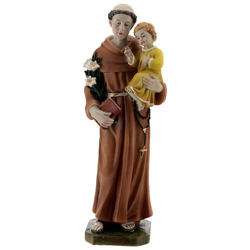 St Anthony statue with book, 20 cm resin 1