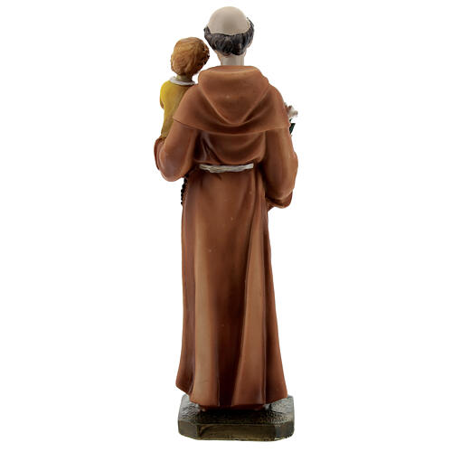 St Anthony statue with book, 20 cm resin 5