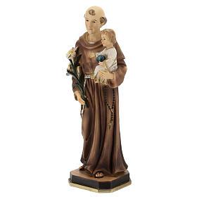 Saint Antoine statue Enfant globe bleu résine 30 cm s3