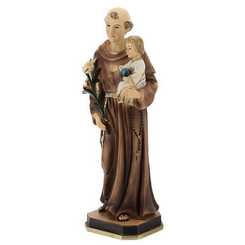 Saint Antoine statue Enfant globe bleu résine 30 cm 3