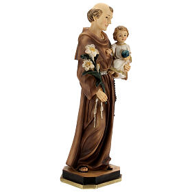 Statue of St Anthony with Child holding blue, 30 cm resin s4