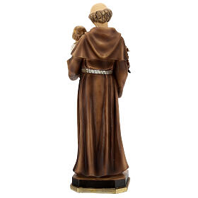 Statue of St Anthony with Child holding blue, 30 cm resin s5