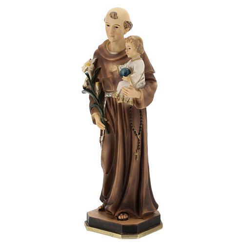 Statue of St Anthony with Child holding blue, 30 cm resin 3