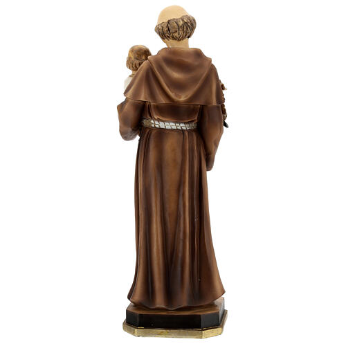 Statue of St Anthony with Child holding blue, 30 cm resin 5