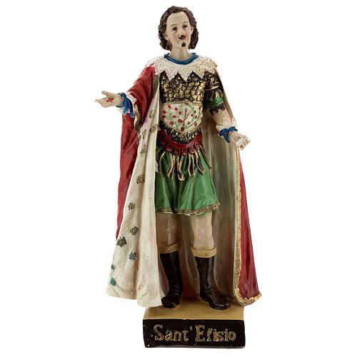 Saint Ephysius statue résine 20 cm 1