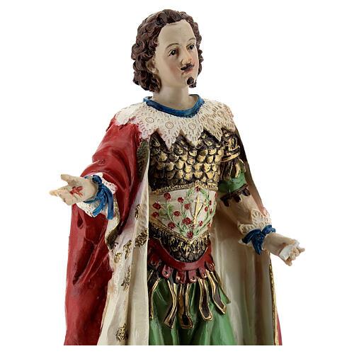 Saint Ephysius statue résine 20 cm 2