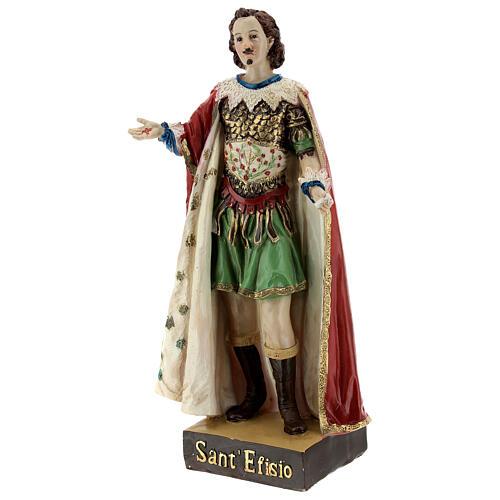 Saint Ephysius statue résine 20 cm 3