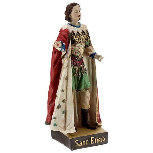 Saint Ephysius statue résine 20 cm 4