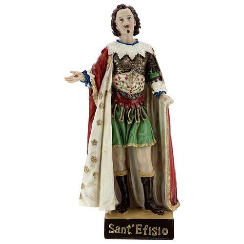 San Efisio vestidos elegantes estatua resina 30x14 cm 1