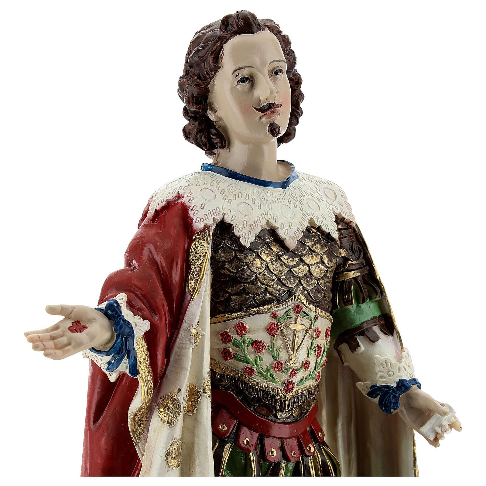 Saint Ephysius veste riche statue résine 30x14 cm 4