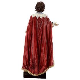 Saint Ephysius veste riche statue résine 30x14 cm s5