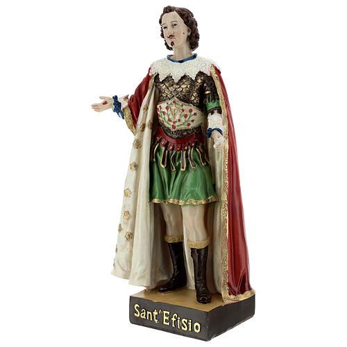Saint Ephysius veste riche statue résine 30x14 cm 3