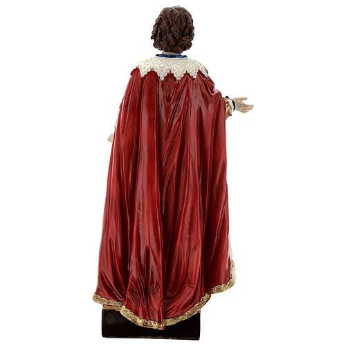 Saint Ephysius veste riche statue résine 30x14 cm 5