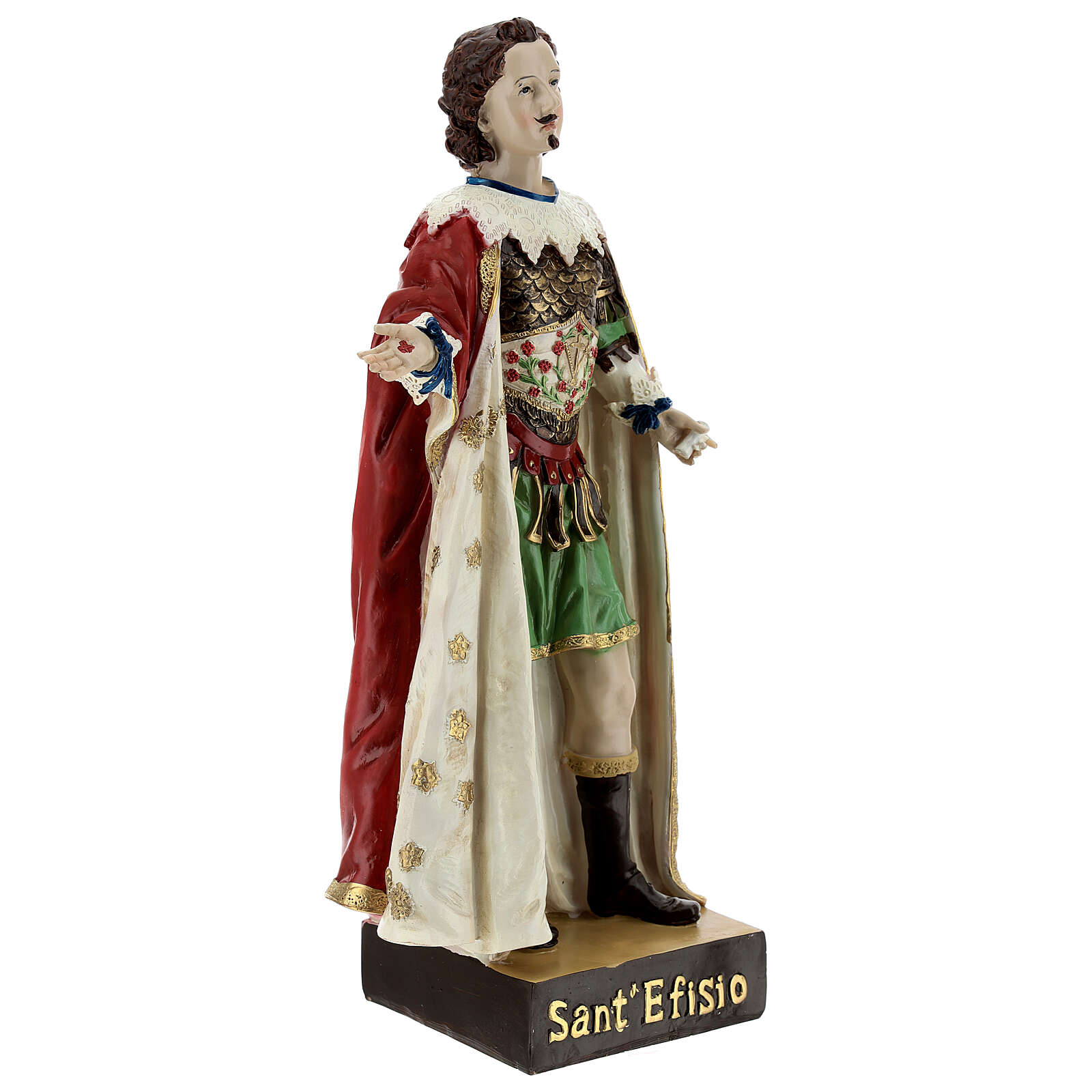 Saint Ephysius statue, 30x14 cm with detailed clothes resin 4