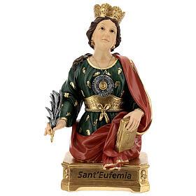 Buste Sainte Euphémie résine 28 cm s1