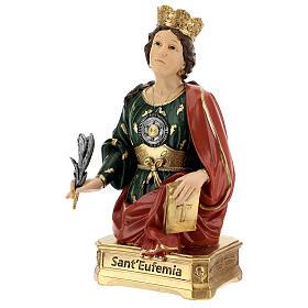Buste Sainte Euphémie résine 28 cm s3