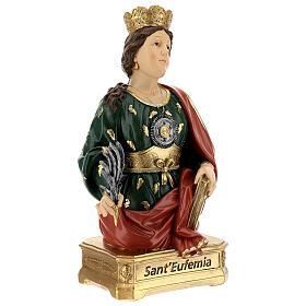 Buste Sainte Euphémie résine 28 cm s5