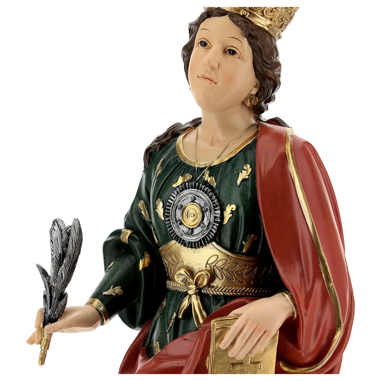 Busto Santa Eufémia resina 28 cm 4