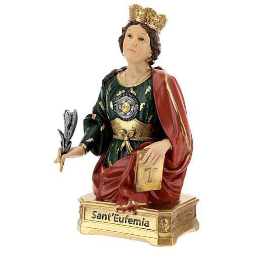 Busto Santa Eufémia resina 28 cm 3