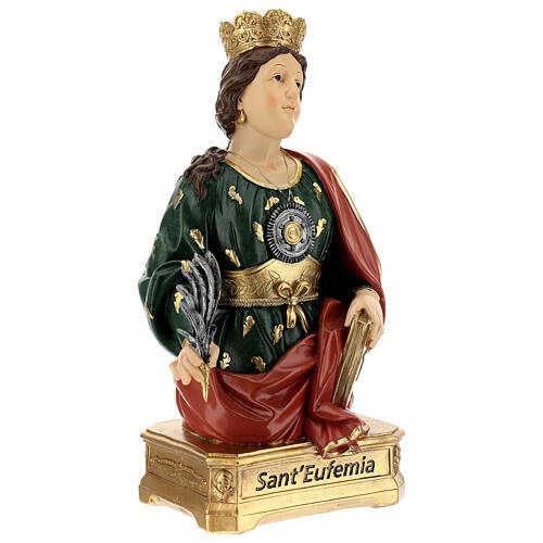 Busto Santa Eufémia resina 28 cm 5