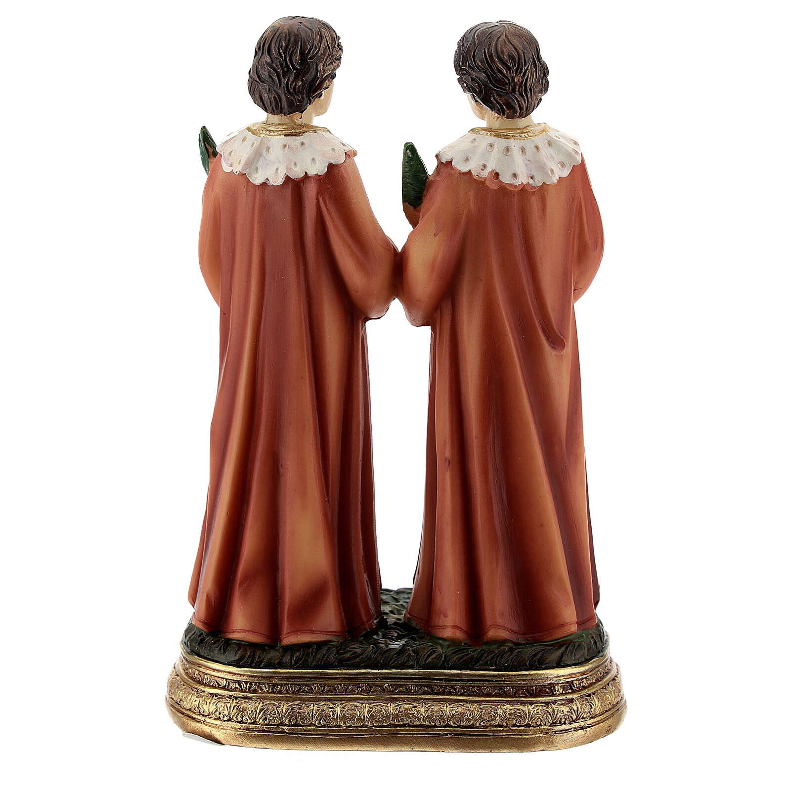 Cosmas and Damian palm trees resin statue 12.5 cm 4