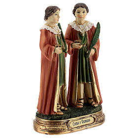 St Cosmas and Damian statue, 12 cm resin s3