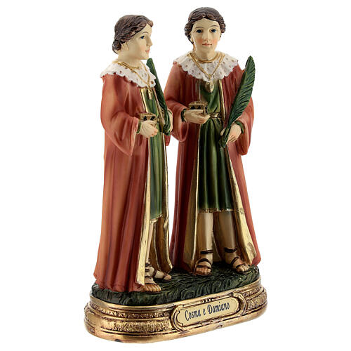 St Cosmas and Damian statue, 12 cm resin 3