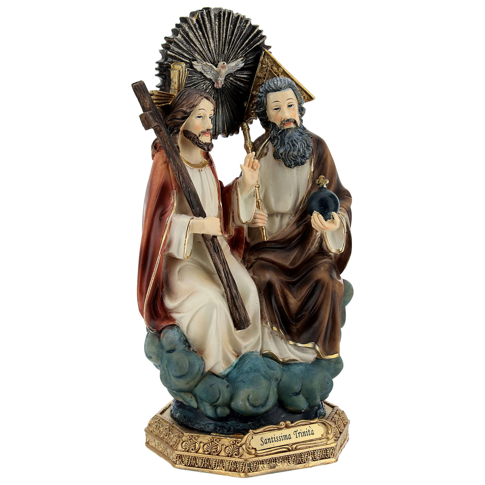 Holy Trinity in heaven resin statue 20.5 cm 4