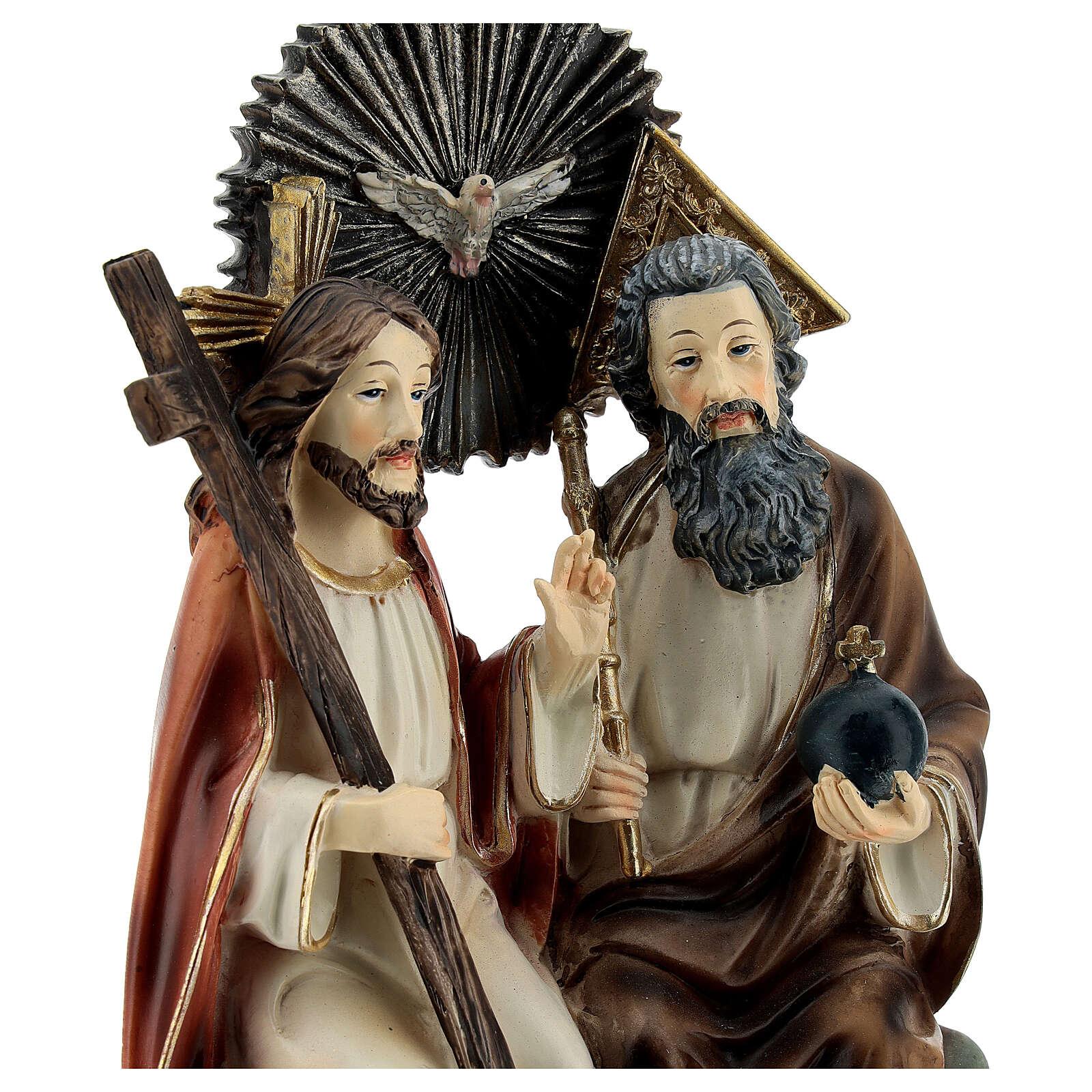 Très Sainte Trinité au ciel statue résine 20 cm 4