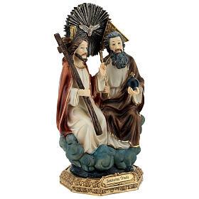 Santissima Trinità in cielo statua resina 20 cm s4