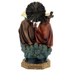 Santissima Trinità in cielo statua resina 20 cm s5