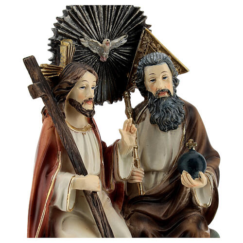 Santissima Trinità in cielo statua resina 20 cm 2