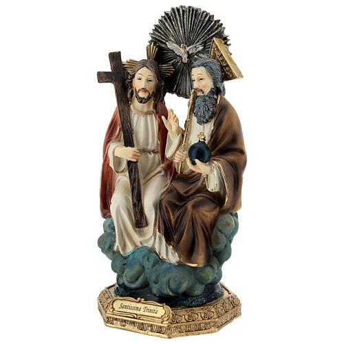 Santissima Trinità in cielo statua resina 20 cm 3