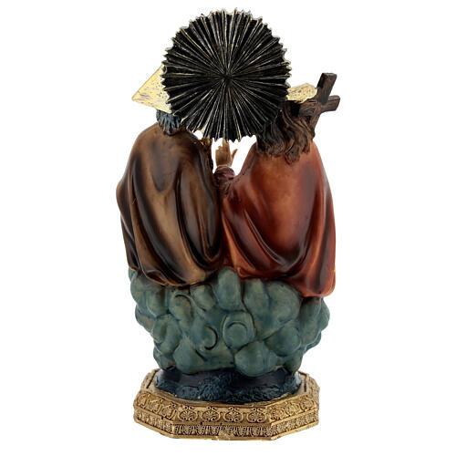 Santissima Trinità in cielo statua resina 20 cm 5