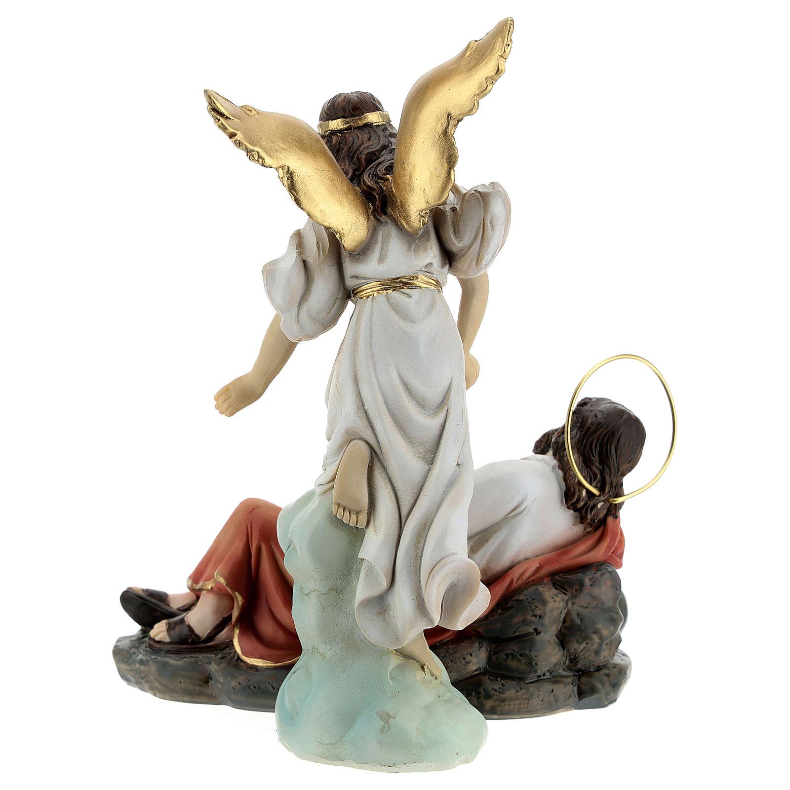 Set Saint Joseph endormi ange résine 15 cm 4