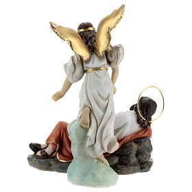 Conjunto São José dormindo e anjo resina 15 cm s8