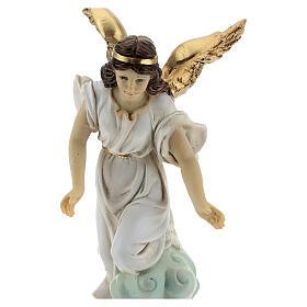 Sleeping St Joseph statue set with angel, 15 cm resin s4