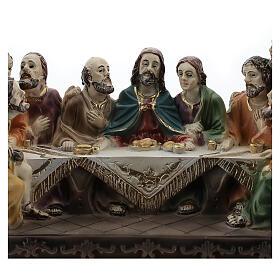 Last Supper statue in resin, 10x15x5 cm s2