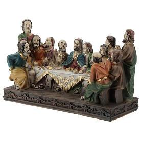 Last Supper statue in resin, 10x15x5 cm s3