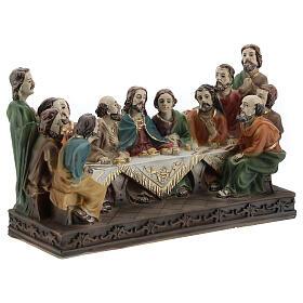 Last Supper statue in resin, 10x15x5 cm s4