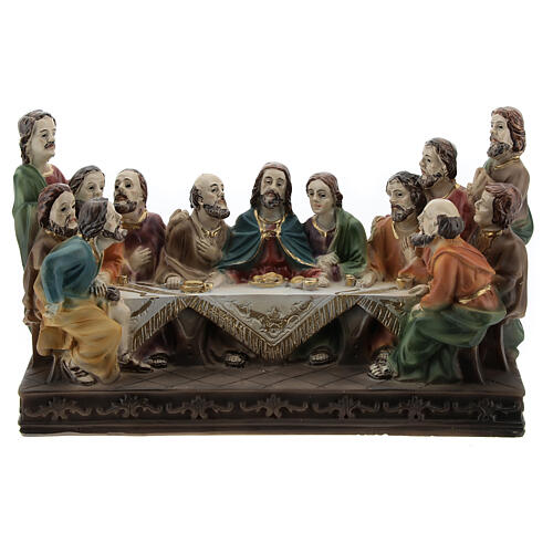 Last Supper statue in resin, 10x15x5 cm 1