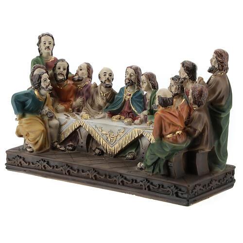 Last Supper statue in resin, 10x15x5 cm 3