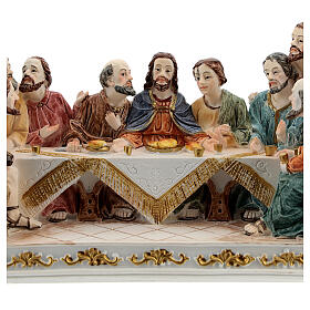 The Last Supper statue with white base in resin, 10x20x5 cm s2