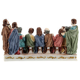 The Last Supper statue with white base in resin, 10x20x5 cm s5